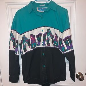 Vintage 92' southwest canyon western top